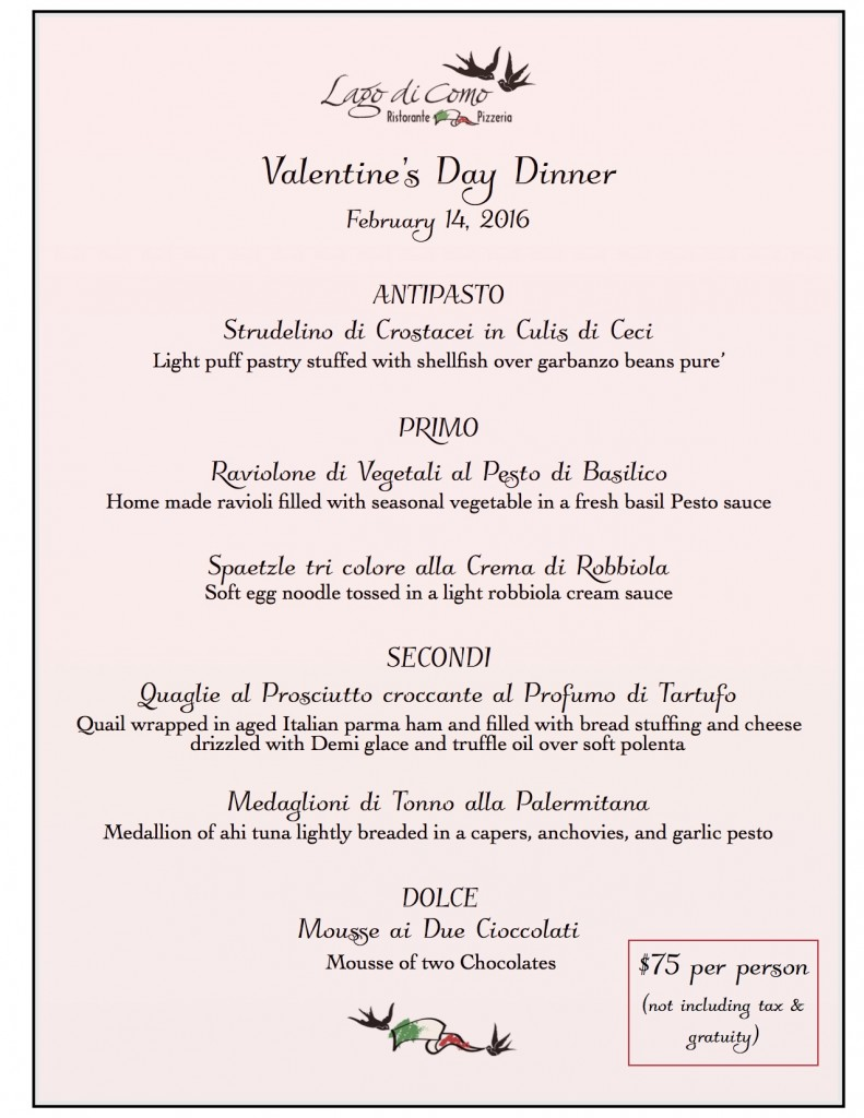 Valentine Dinner Menu 2016 jpeg